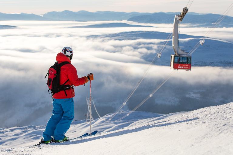 Niclas Vestefjell som är fotograf i Åre fotade skidåkning i Åre
